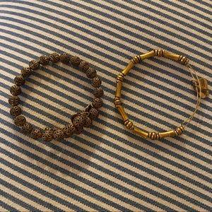 Alex and Ani gold bracelets